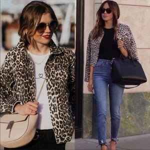 Jackets & Blazers - Animal prints leopard denim jeans jacket